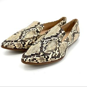 Aldo snake print pointed toe loafer flats NEW